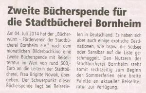 2014-07-12_Wir Bornheimer_Bericht B++cherspende