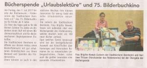 2017-07-22_Wir Bornheimer_Bericht Bücherspende Sommerliteratur